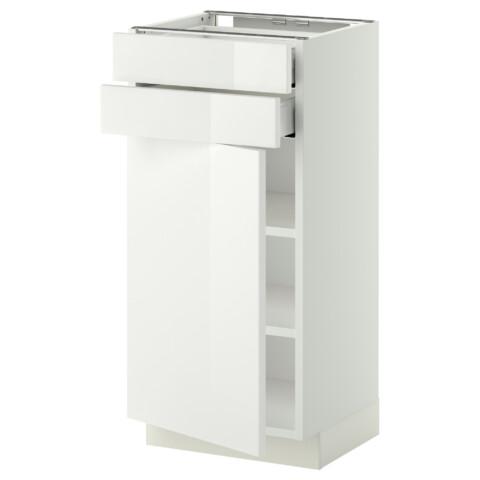 Напольный шкаф с дверцей, 2 ящиками МЕТОД / МАКСИМЕРА белый артикуль № 692.355.10 в наличии. Онлайн магазин IKEA РБ. Быстрая доставка и установка.