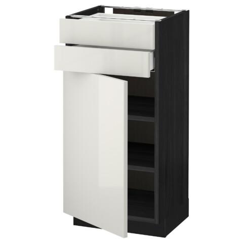 Напольный шкаф с дверцей, 2 ящиками МЕТОД / МАКСИМЕРА черный артикуль № 892.355.09 в наличии. Online сайт IKEA РБ. Недорогая доставка и установка.