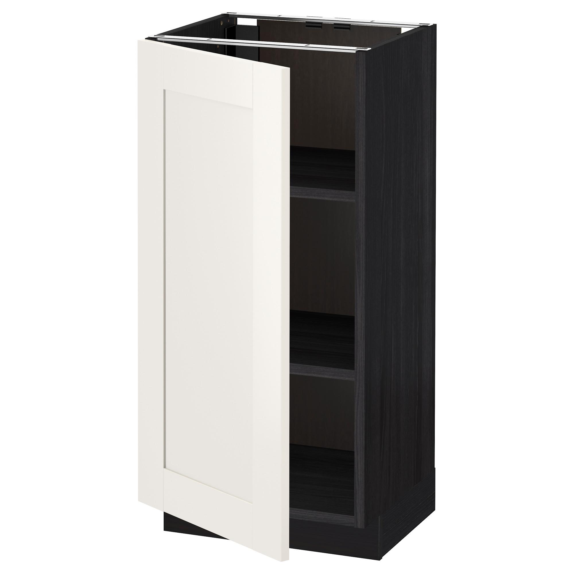 Напольный шкаф с полками МЕТОД черный артикуль № 192.231.14 в наличии. Онлайн магазин IKEA РБ. Недорогая доставка и монтаж.