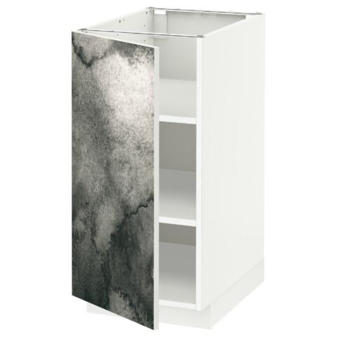 Напольный шкаф с полками МЕТОД белый артикуль № 192.319.39 в наличии. Online магазин IKEA РБ. Быстрая доставка и установка.