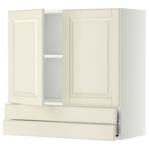 Навесной шкаф, 2 дверцы, 2 ящика МЕТОД / МАКСИМЕРА белый артикуль № 092.320.48 в наличии. Online сайт IKEA Минск. Недорогая доставка и соборка.