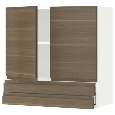 Навесной шкаф, 2 дверцы, 2 ящика МЕТОД / МАКСИМЕРА белый артикуль № 092.381.87 в наличии. Online каталог IKEA Беларусь. Быстрая доставка и соборка.