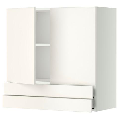 Навесной шкаф, 2 дверцы, 2 ящика МЕТОД / МАКСИМЕРА белый артикуль № 892.345.43 в наличии. Онлайн сайт IKEA Беларусь. Недорогая доставка и монтаж.