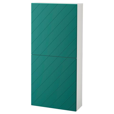 Навесной шкаф с 2 дверями БЕСТО сине-зеленый артикуль № 192.762.87 в наличии. Онлайн каталог IKEA РБ. Быстрая доставка и монтаж.