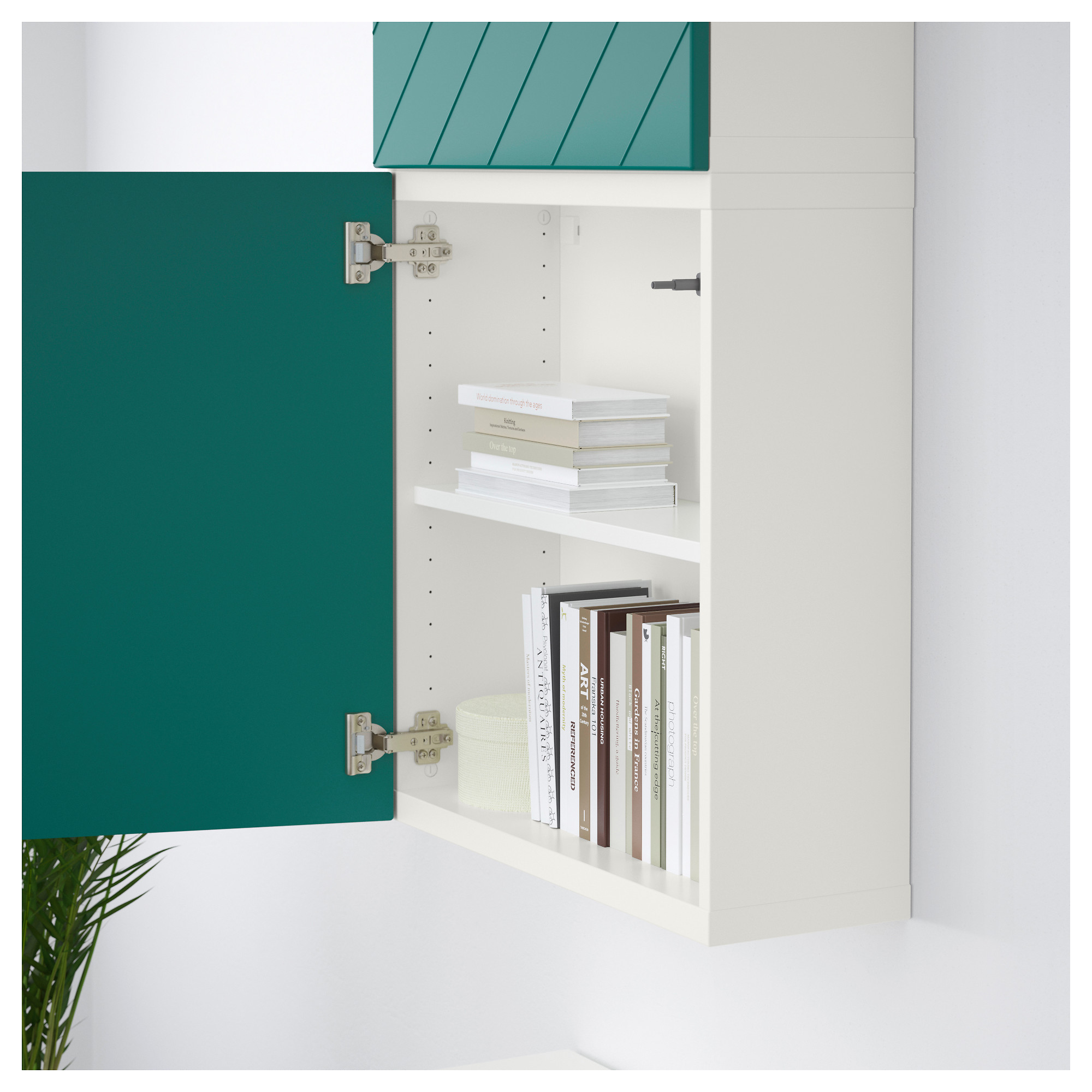 Навесной шкаф с 2 дверями БЕСТО сине-зеленый артикуль № 192.762.87 в наличии. Online магазин ИКЕА РБ. Недорогая доставка и монтаж.