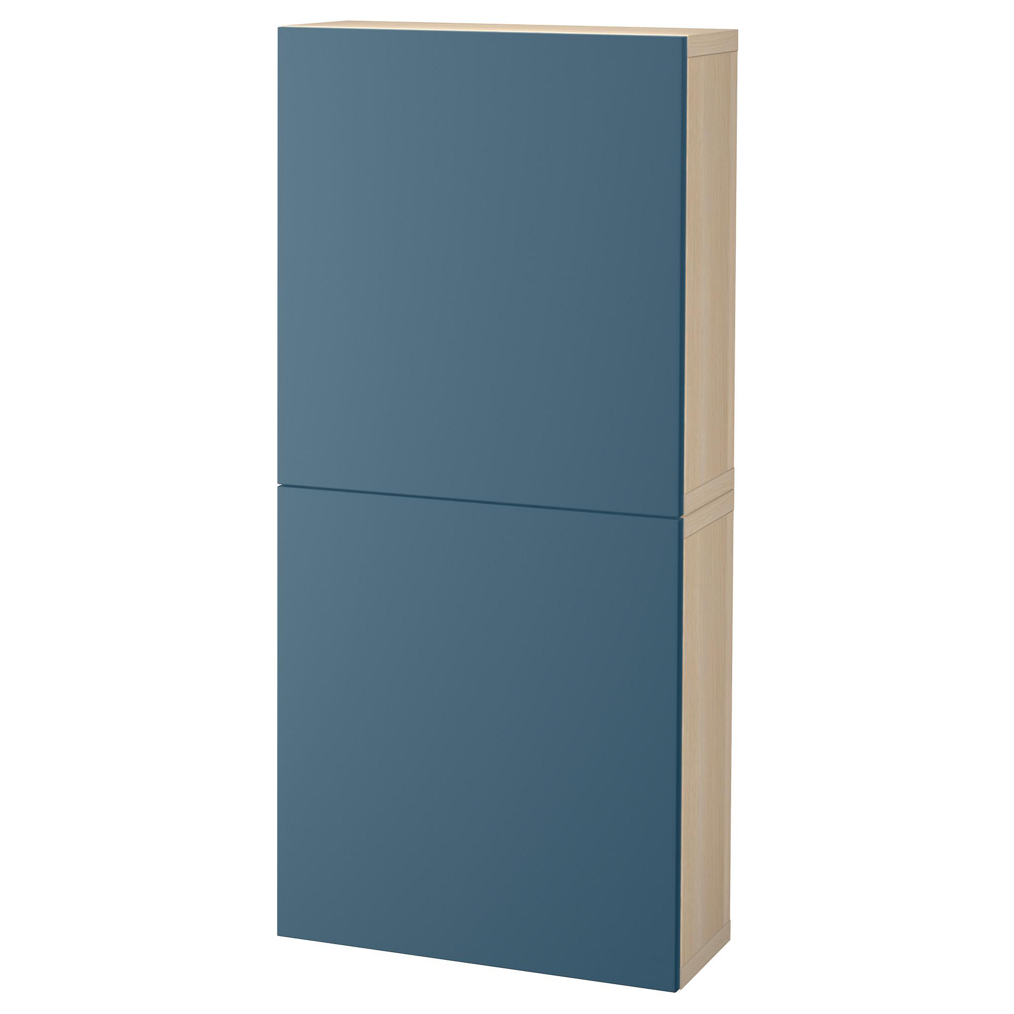 Навесной шкаф с 2 дверями БЕСТО темно-синий артикуль № 292.489.39 в наличии. Интернет сайт IKEA Республика Беларусь. Быстрая доставка и монтаж.