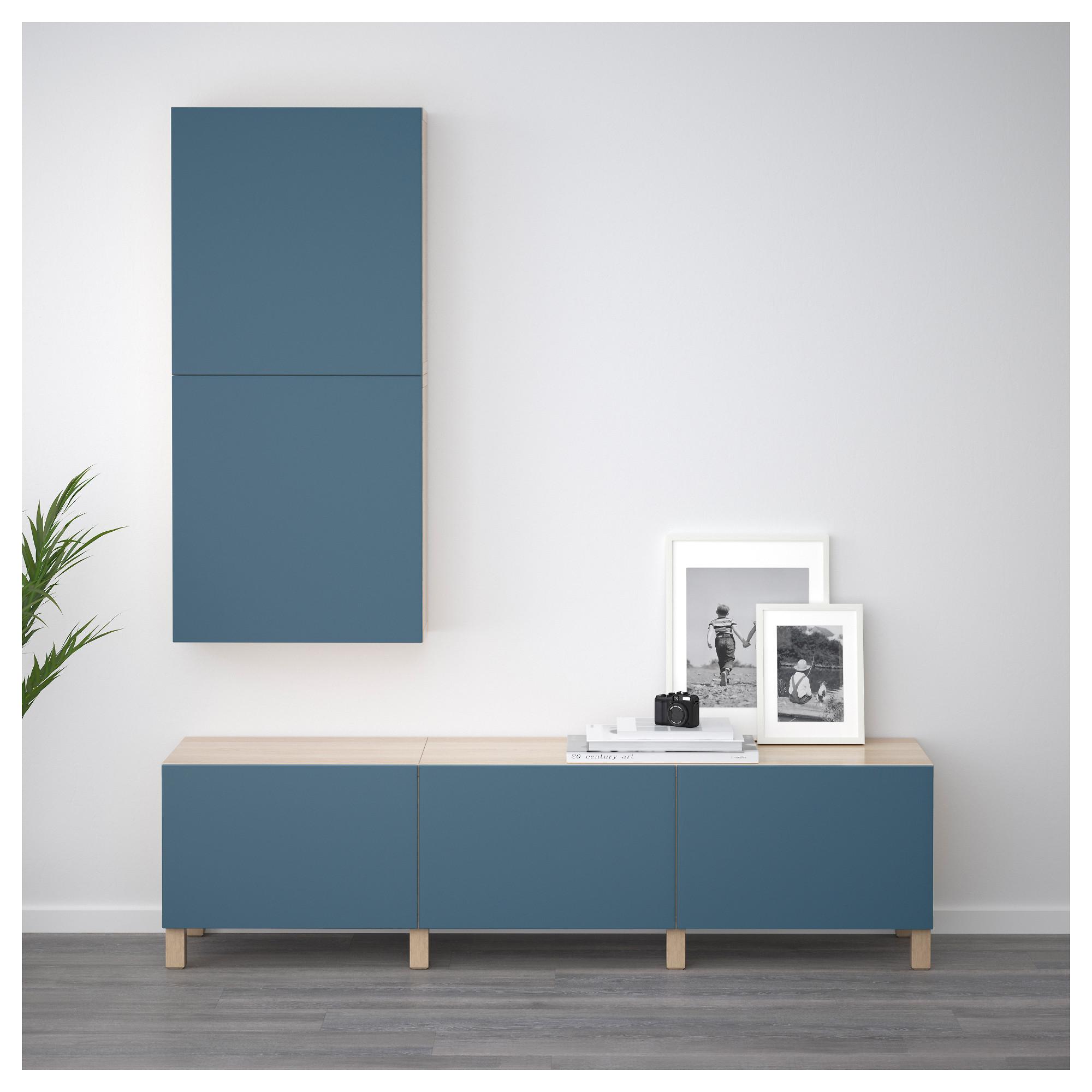 Навесной шкаф с 2 дверями БЕСТО темно-синий артикуль № 292.489.39 в наличии. Интернет магазин IKEA Минск. Быстрая доставка и установка.