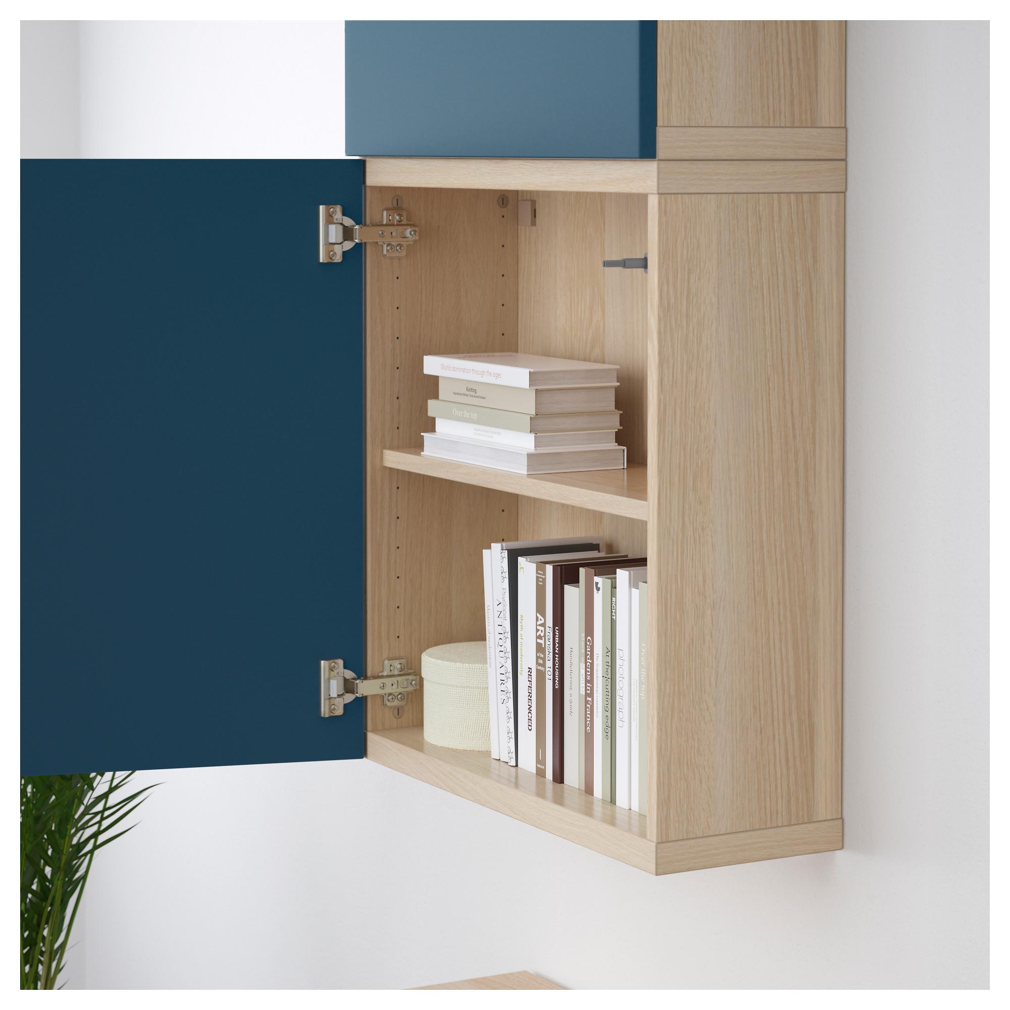 Навесной шкаф с 2 дверями БЕСТО темно-синий артикуль № 292.489.39 в наличии. Интернет сайт ИКЕА РБ. Недорогая доставка и соборка.