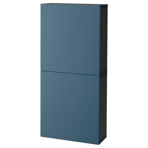 Навесной шкаф с 2 дверями БЕСТО темно-синий артикуль № 792.482.63 в наличии. Интернет магазин IKEA Беларусь. Быстрая доставка и монтаж.