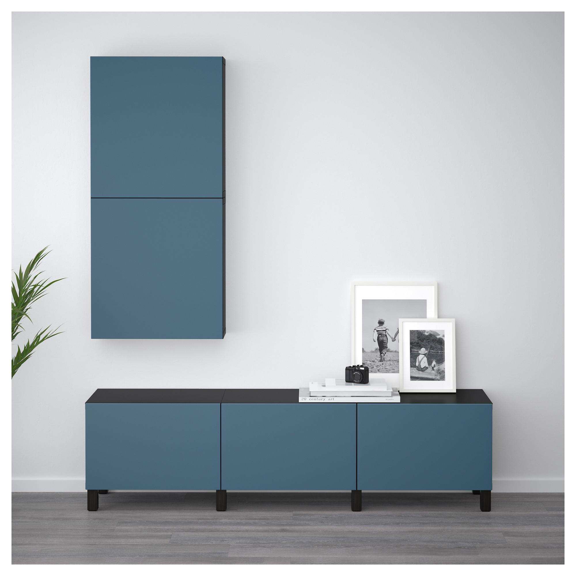 Навесной шкаф с 2 дверями БЕСТО темно-синий артикуль № 792.482.63 в наличии. Online сайт IKEA Минск. Недорогая доставка и монтаж.