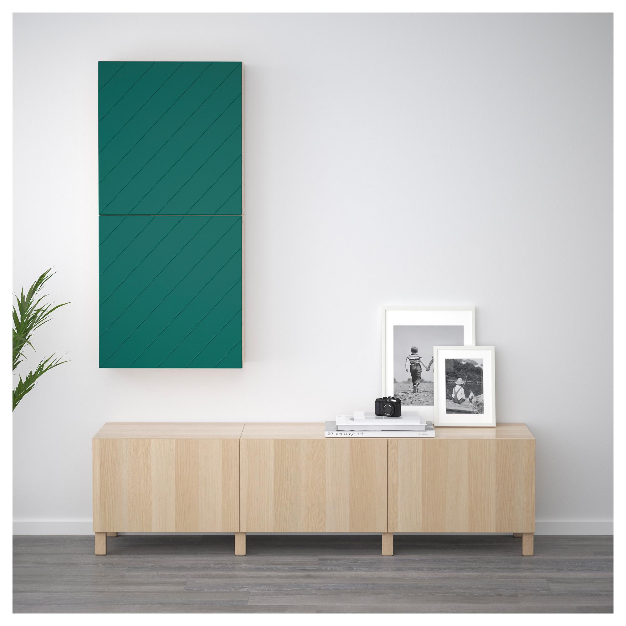 Навесной шкаф с 2 дверями БЕСТО сине-зеленый артикуль № 792.762.89 в наличии. Онлайн каталог ИКЕА РБ. Быстрая доставка и соборка.