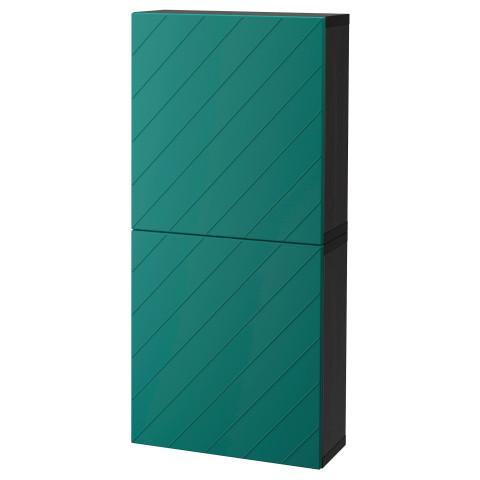 Навесной шкаф с 2 дверями БЕСТО сине-зеленый артикуль № 892.762.84 в наличии. Онлайн сайт IKEA Минск. Недорогая доставка и соборка.
