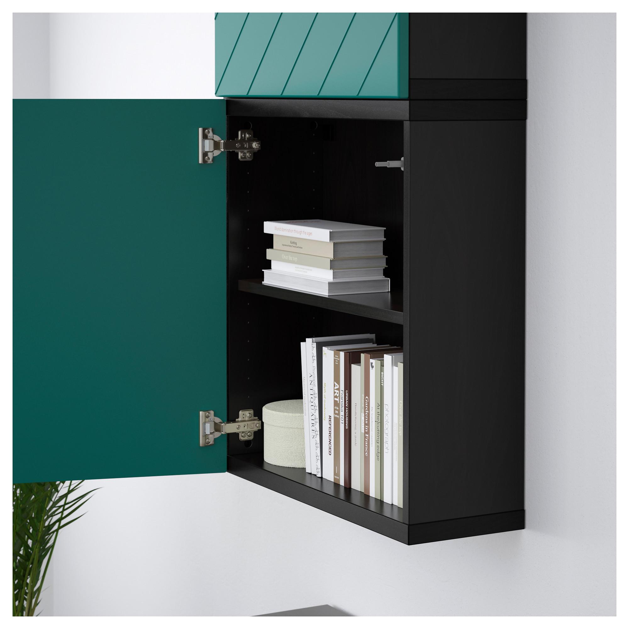 Навесной шкаф с 2 дверями БЕСТО сине-зеленый артикуль № 892.762.84 в наличии. Online магазин IKEA Беларусь. Недорогая доставка и соборка.