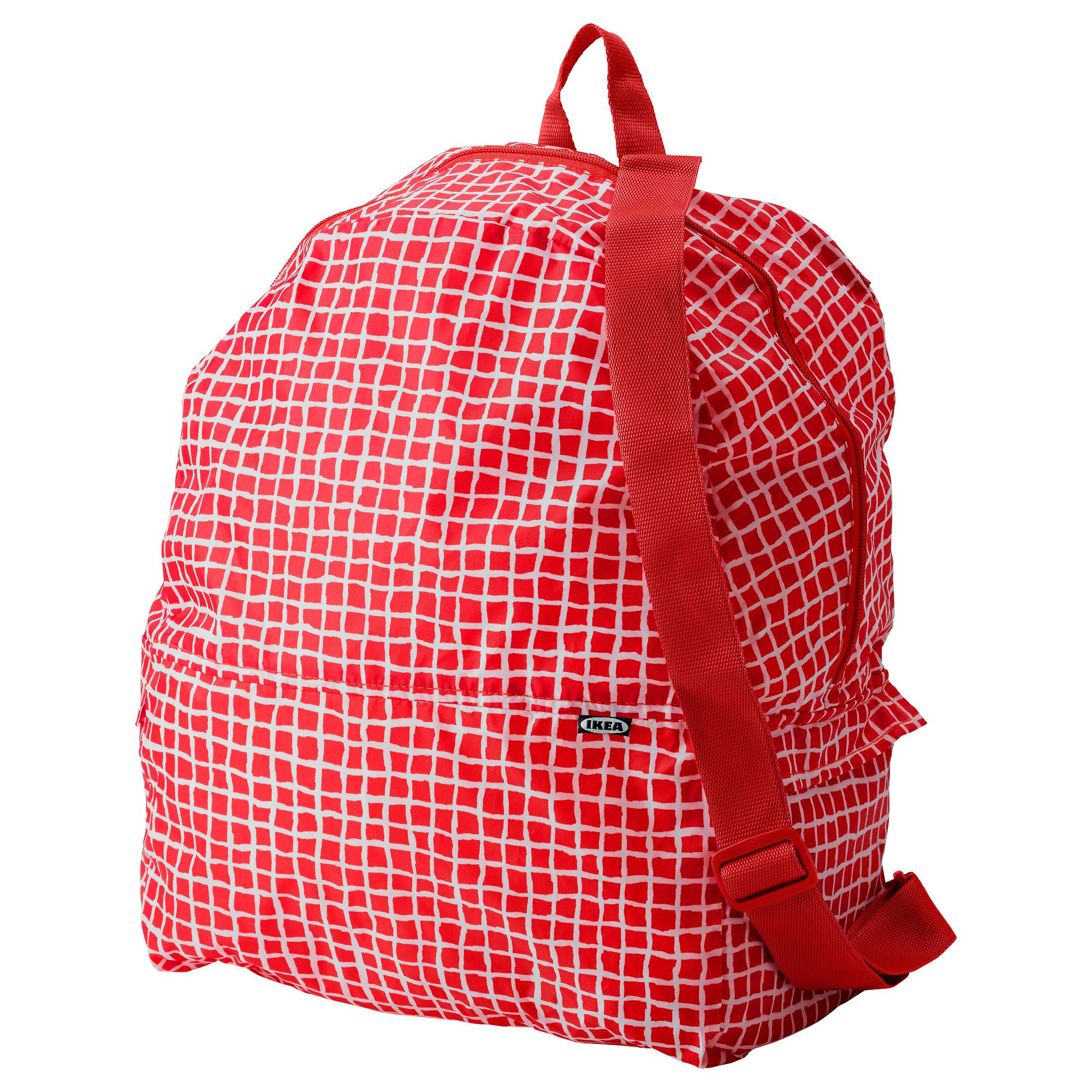 Рюкзак КНЭЛЛА красный/белый артикуль № 303.791.23 в наличии. Интернет сайт ИКЕА Беларусь. Быстрая доставка и установка.