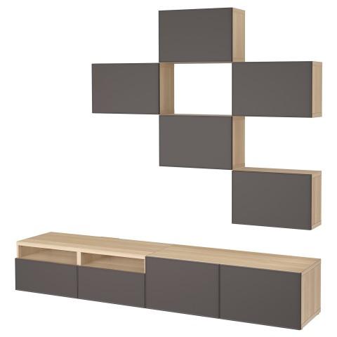 Шкаф для ТВ, комбинация БЕСТО темно-серый артикуль № 092.515.98 в наличии. Интернет каталог IKEA РБ. Быстрая доставка и установка.