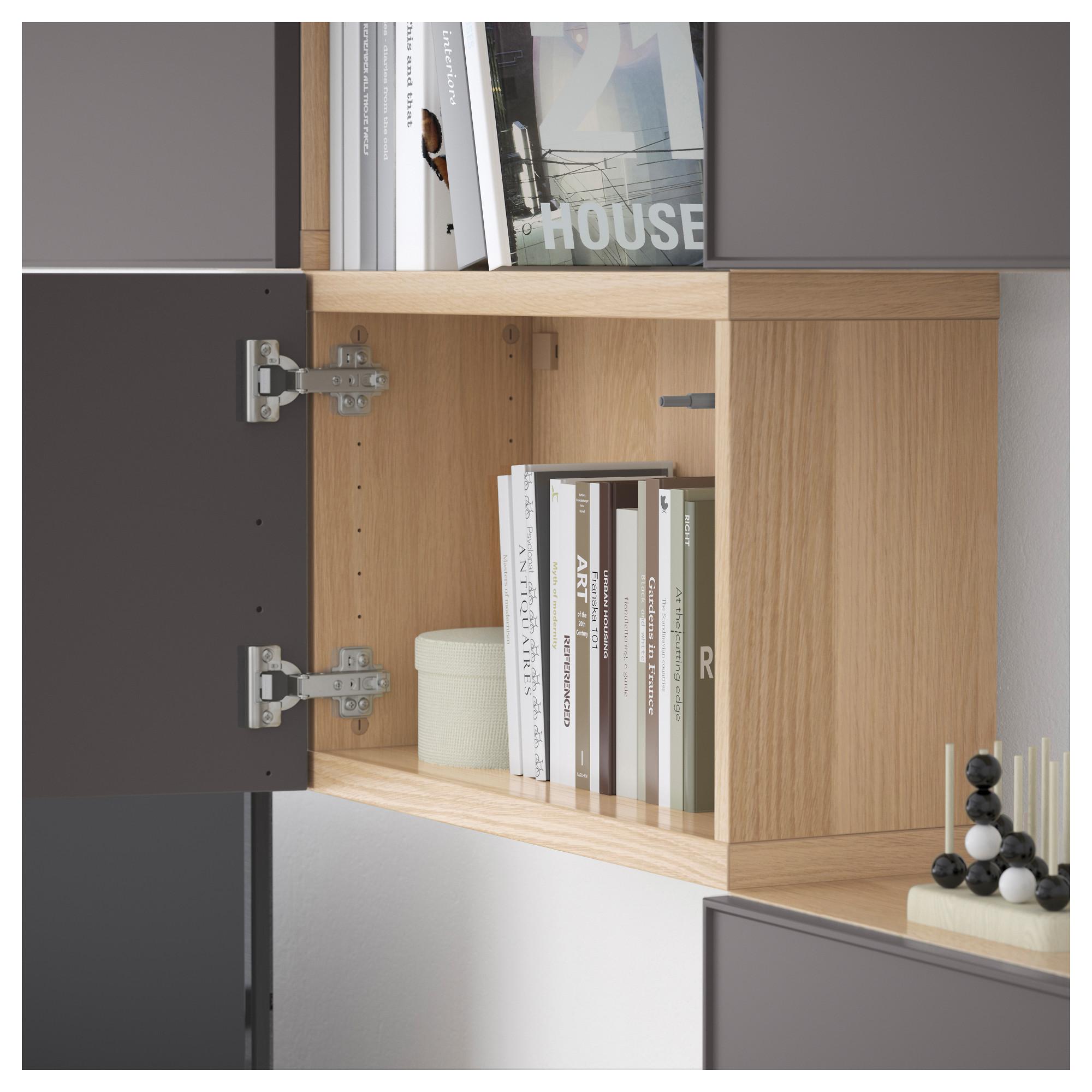 Шкаф для ТВ, комбинация БЕСТО темно-серый артикуль № 092.515.98 в наличии. Интернет магазин IKEA РБ. Недорогая доставка и монтаж.