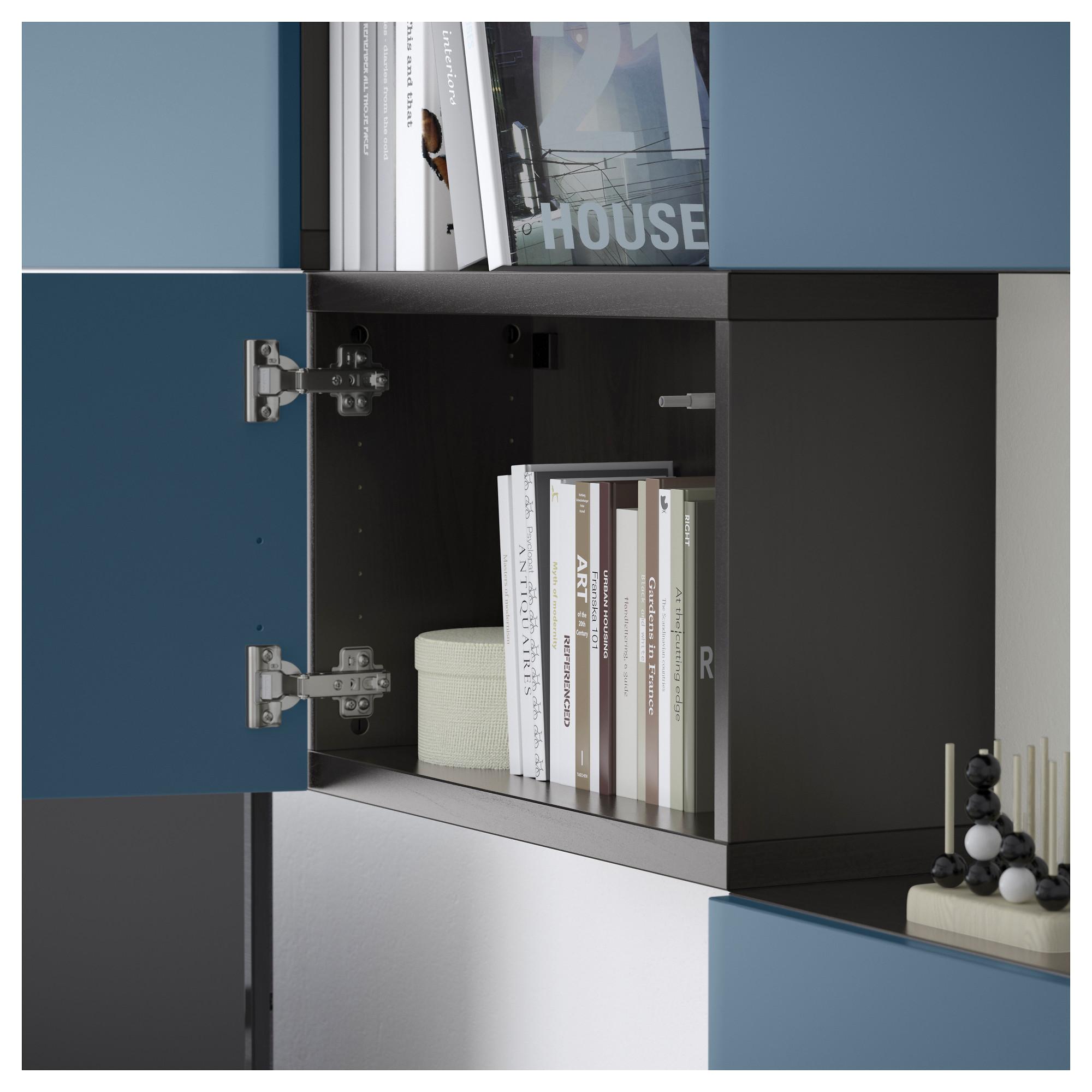 Шкаф для ТВ, комбинация БЕСТО темно-синий артикуль № 092.516.78 в наличии. Онлайн сайт ИКЕА РБ. Недорогая доставка и соборка.
