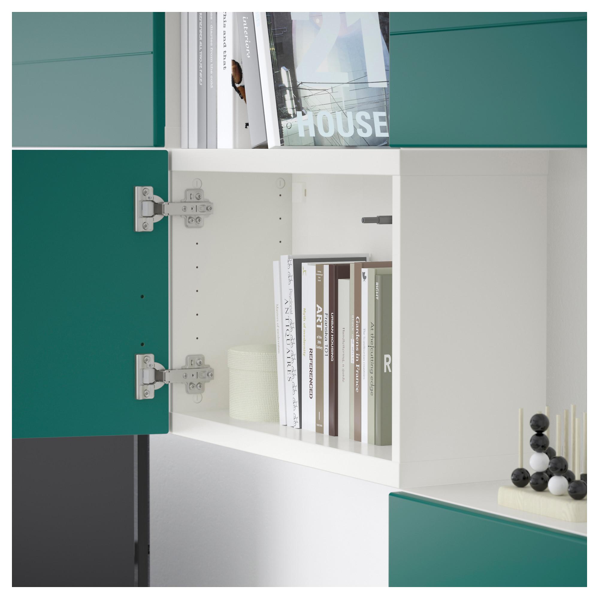 Шкаф для ТВ, комбинация БЕСТО сине-зеленый артикуль № 092.761.22 в наличии. Онлайн магазин ИКЕА РБ. Быстрая доставка и установка.