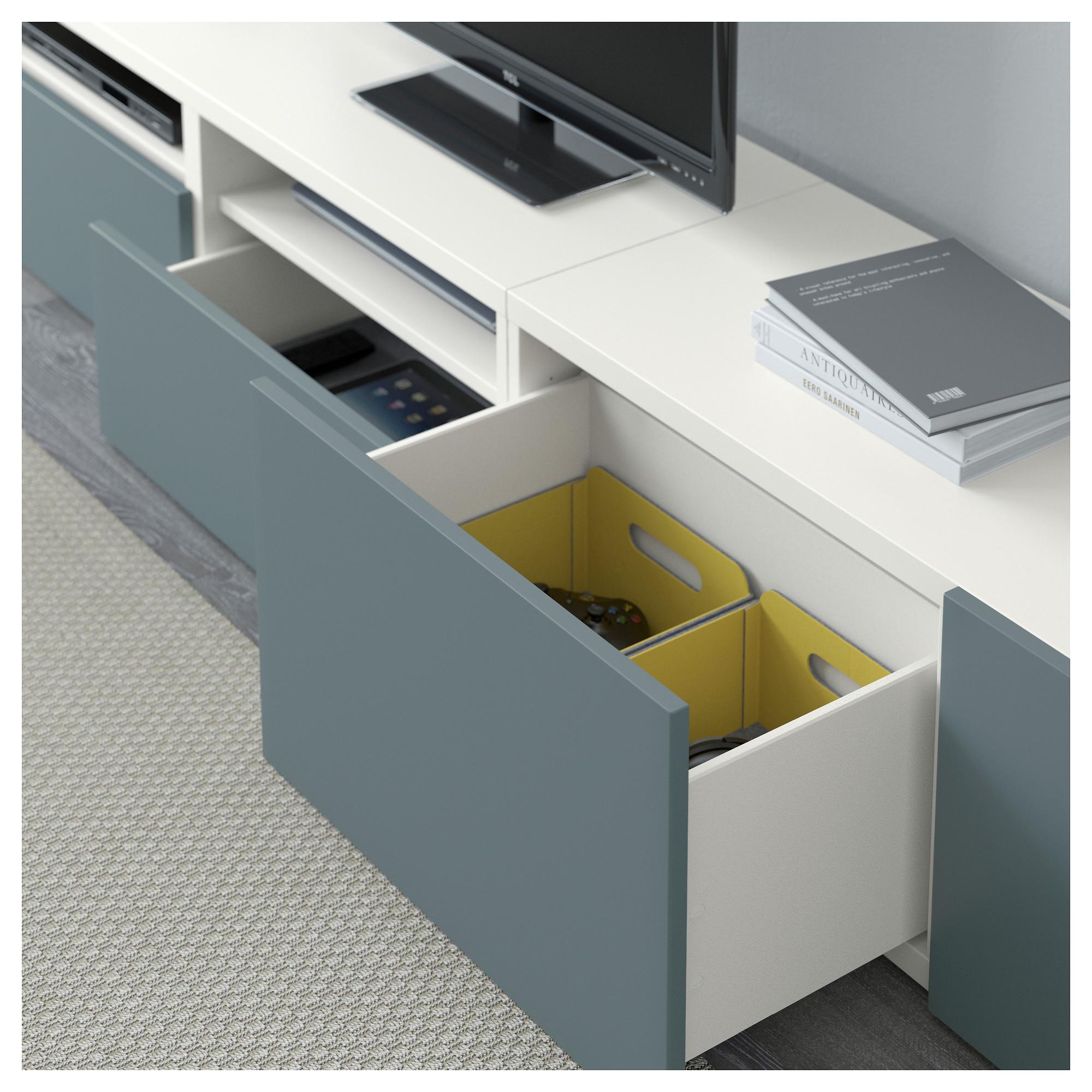 Шкаф для ТВ, комбинация БЕСТО белый артикуль № 192.516.73 в наличии. Online каталог IKEA РБ. Быстрая доставка и соборка.