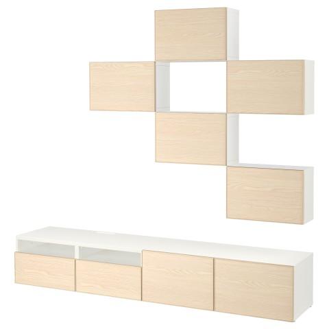 Шкаф для ТВ, комбинация БЕСТО белый артикуль № 292.514.27 в наличии. Интернет каталог IKEA Минск. Недорогая доставка и соборка.