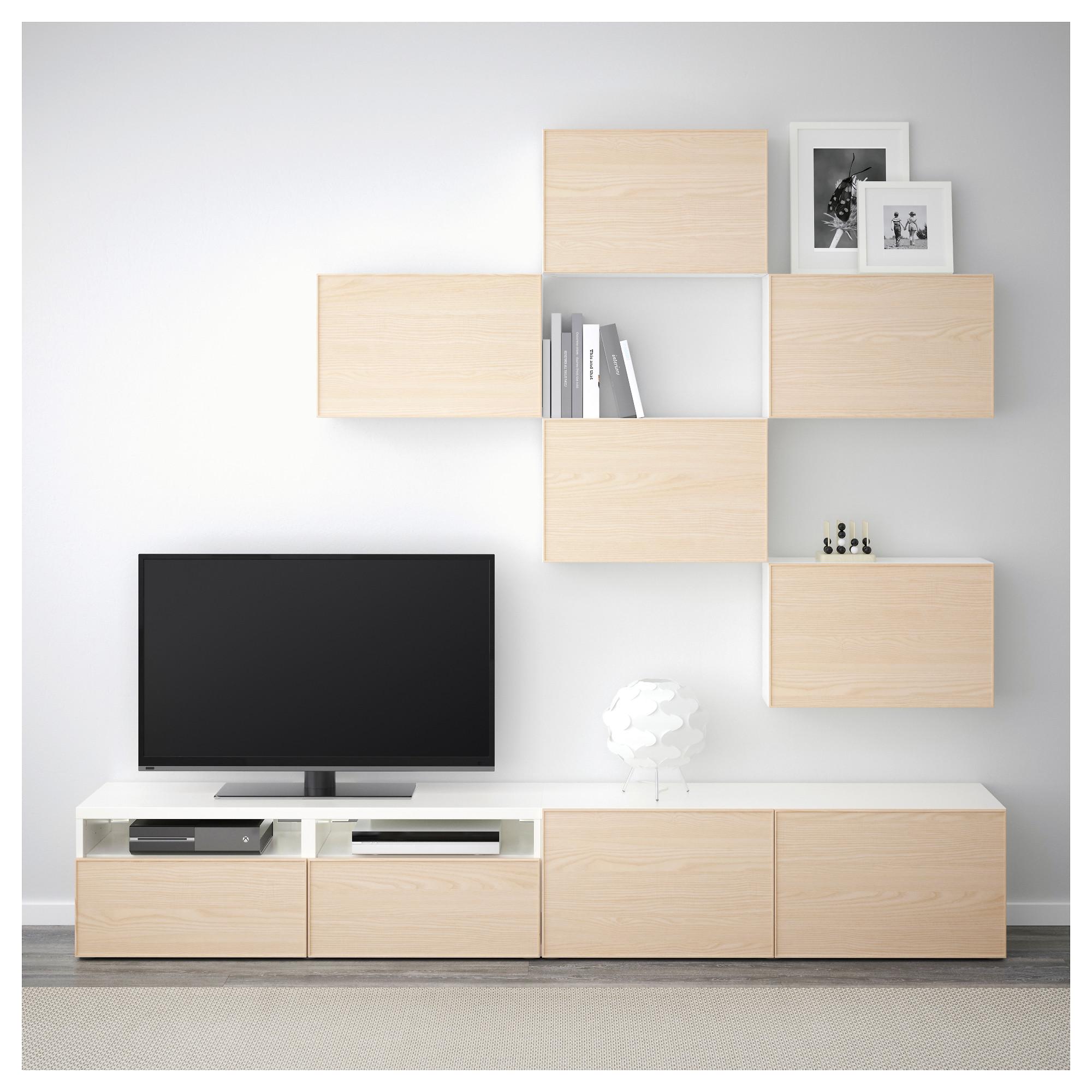 Шкаф для ТВ, комбинация БЕСТО белый артикуль № 292.514.27 в наличии. Онлайн сайт IKEA Республика Беларусь. Быстрая доставка и установка.