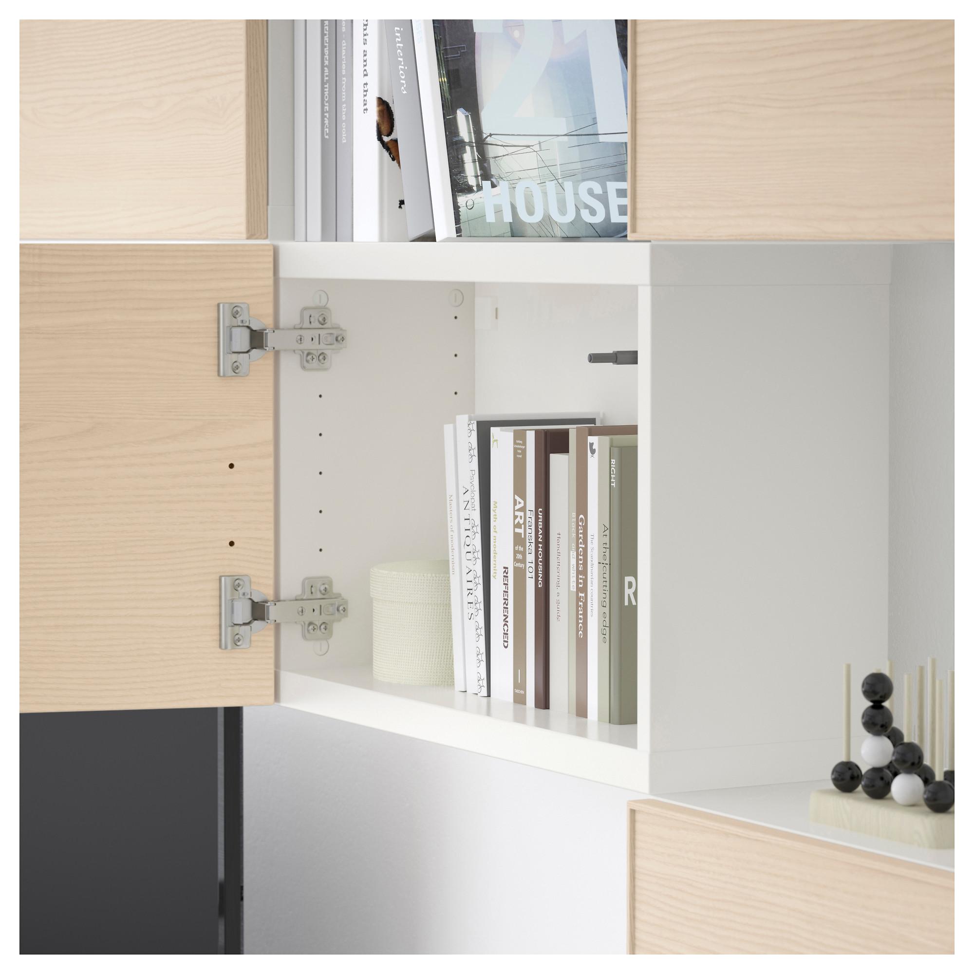 Шкаф для ТВ, комбинация БЕСТО белый артикуль № 292.514.27 в наличии. Онлайн магазин IKEA Беларусь. Быстрая доставка и монтаж.