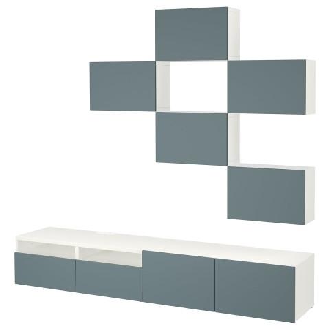 Шкаф для ТВ, комбинация БЕСТО белый артикуль № 292.516.77 в наличии. Интернет магазин IKEA РБ. Быстрая доставка и соборка.