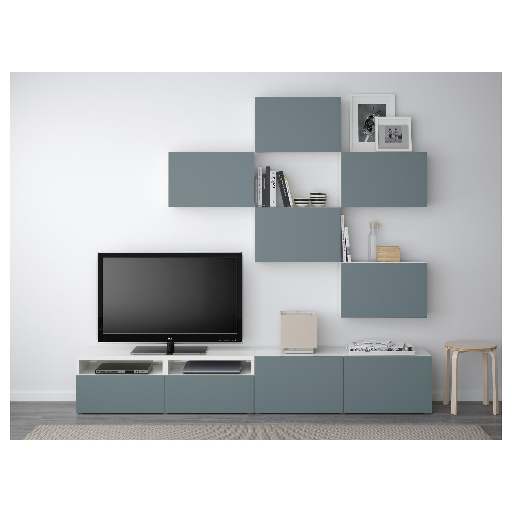Шкаф для ТВ, комбинация БЕСТО белый артикуль № 292.516.77 в наличии. Интернет магазин IKEA Минск. Недорогая доставка и установка.