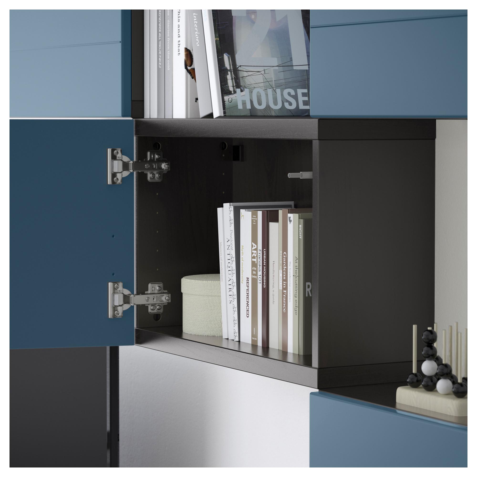 Шкаф для ТВ, комбинация БЕСТО темно-синий артикуль № 292.761.21 в наличии. Онлайн каталог IKEA Минск. Быстрая доставка и установка.