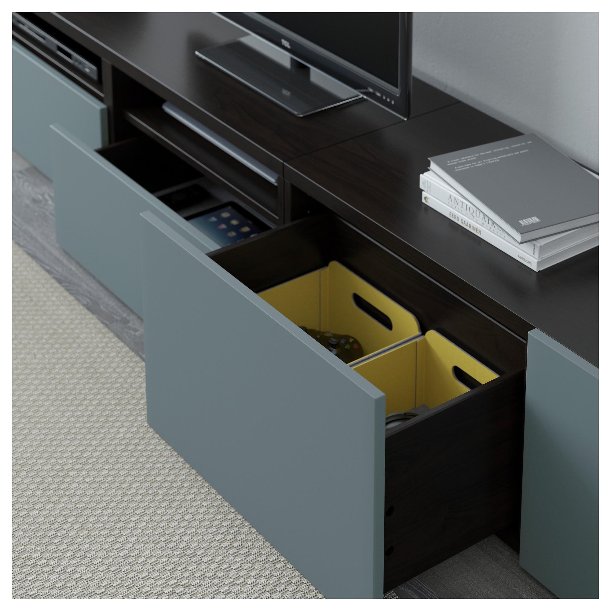 Шкаф для ТВ, комбинация БЕСТО артикуль № 392.516.72 в наличии. Онлайн магазин IKEA Беларусь. Быстрая доставка и монтаж.