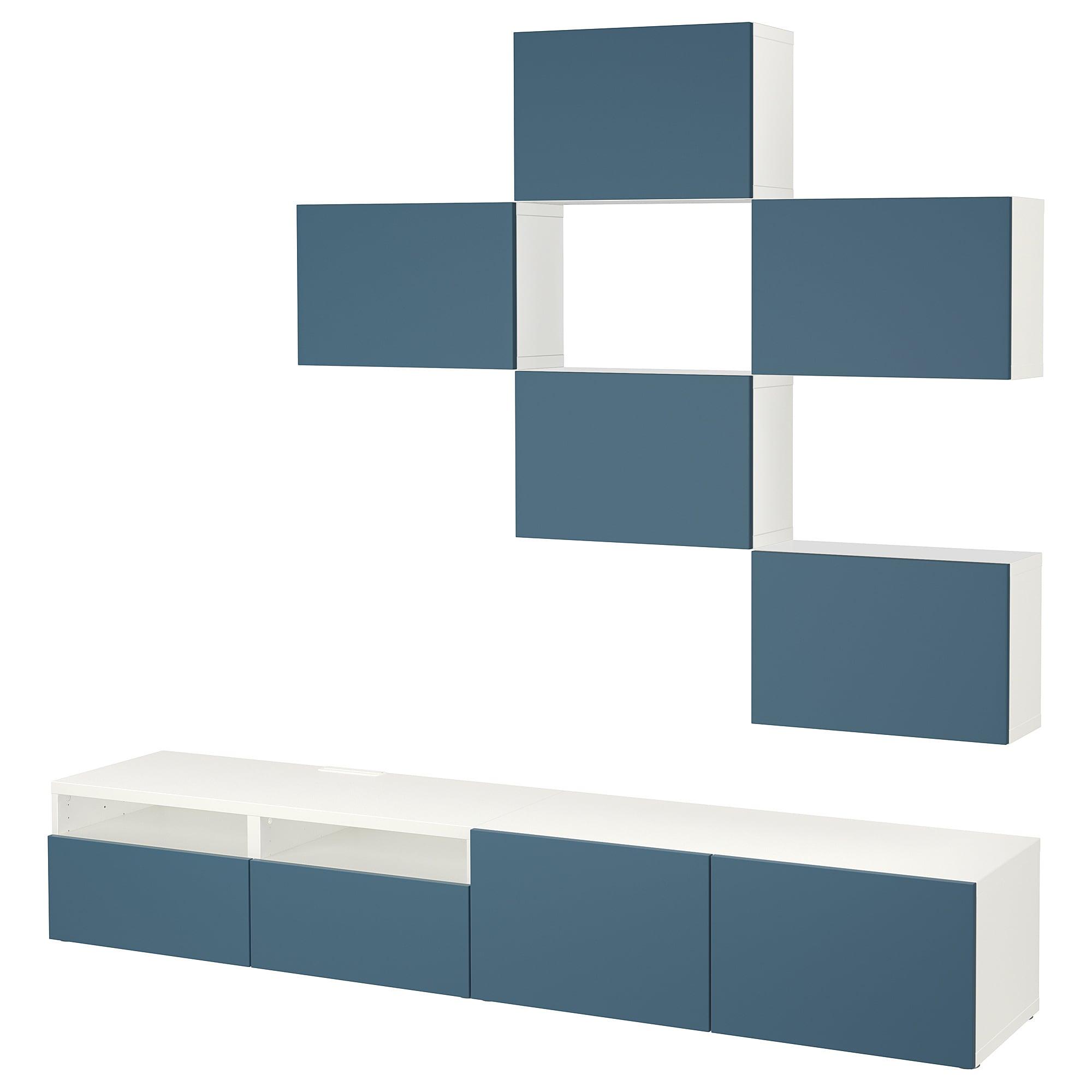Шкаф для ТВ, комбинация БЕСТО темно-синий артикуль № 492.516.81 в наличии. Online сайт IKEA РБ. Недорогая доставка и установка.