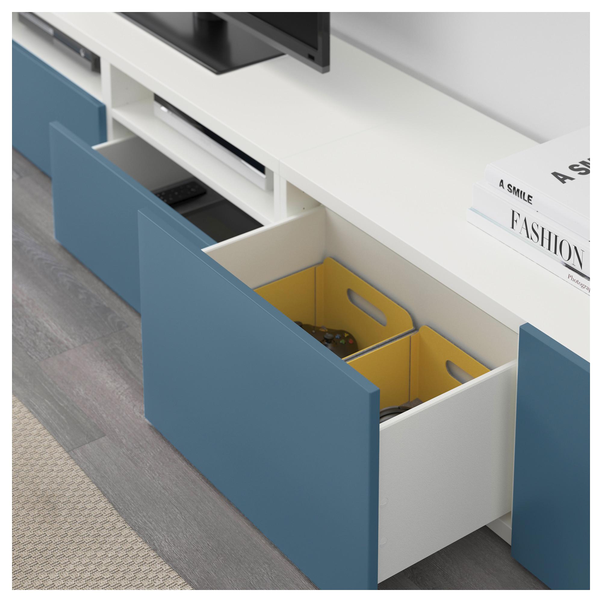 Шкаф для ТВ, комбинация БЕСТО темно-синий артикуль № 492.516.81 в наличии. Интернет сайт IKEA РБ. Недорогая доставка и установка.