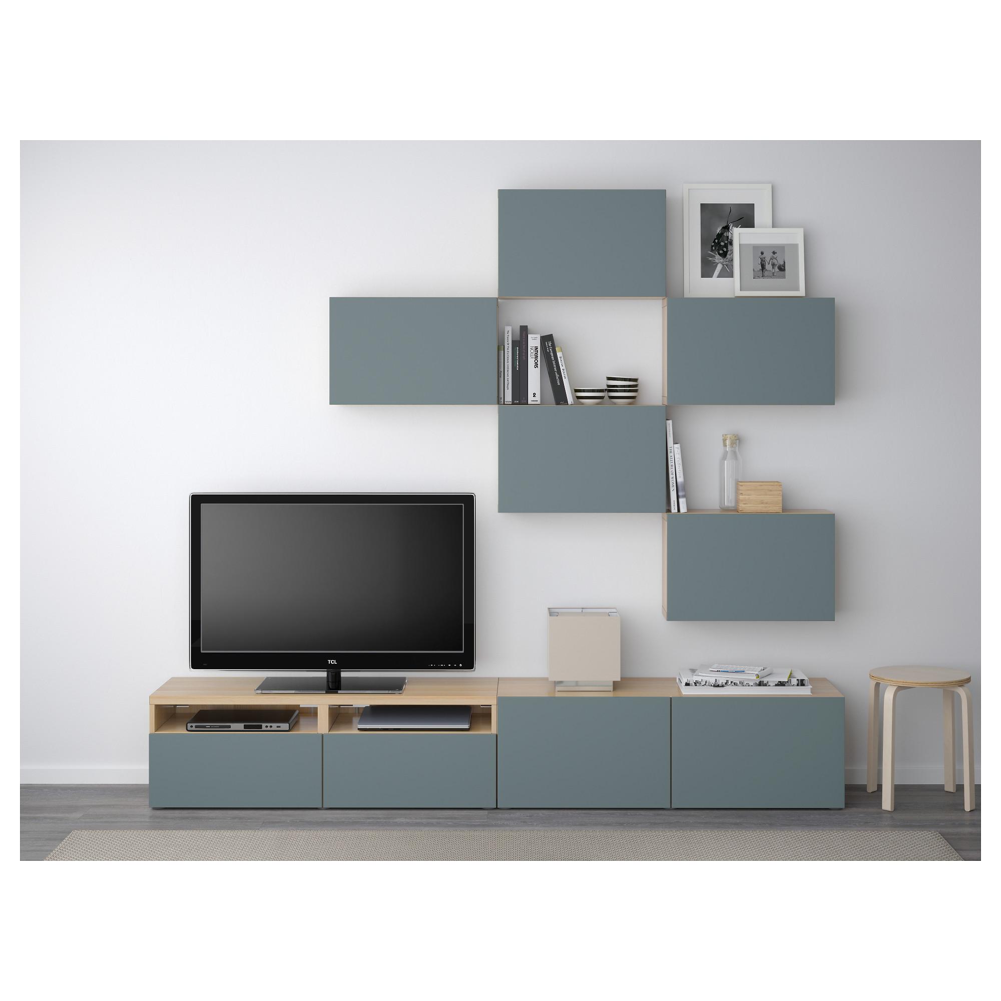 Шкаф для ТВ, комбинация БЕСТО артикуль № 592.516.71 в наличии. Онлайн сайт IKEA РБ. Быстрая доставка и установка.