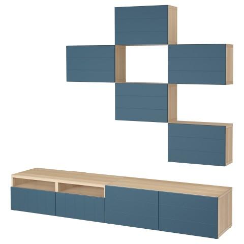 Шкаф для ТВ, комбинация БЕСТО темно-синий артикуль № 592.761.29 в наличии. Онлайн магазин ИКЕА Минск. Недорогая доставка и монтаж.
