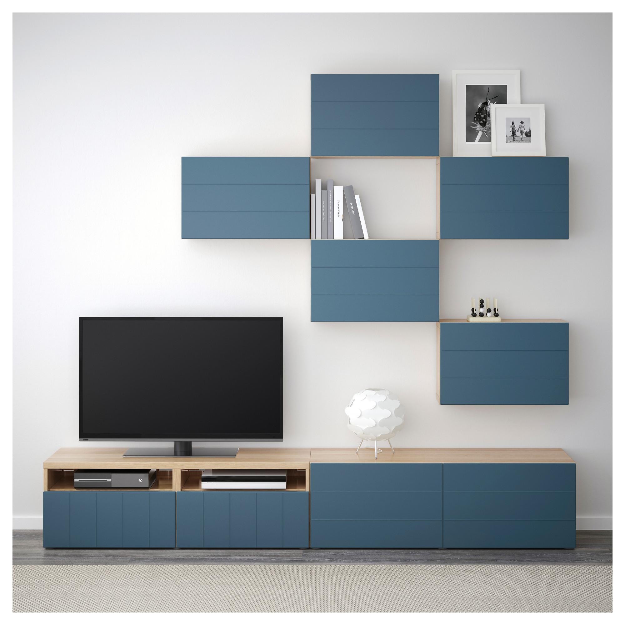 Шкаф для ТВ, комбинация БЕСТО темно-синий артикуль № 592.761.29 в наличии. Интернет сайт IKEA Беларусь. Быстрая доставка и соборка.