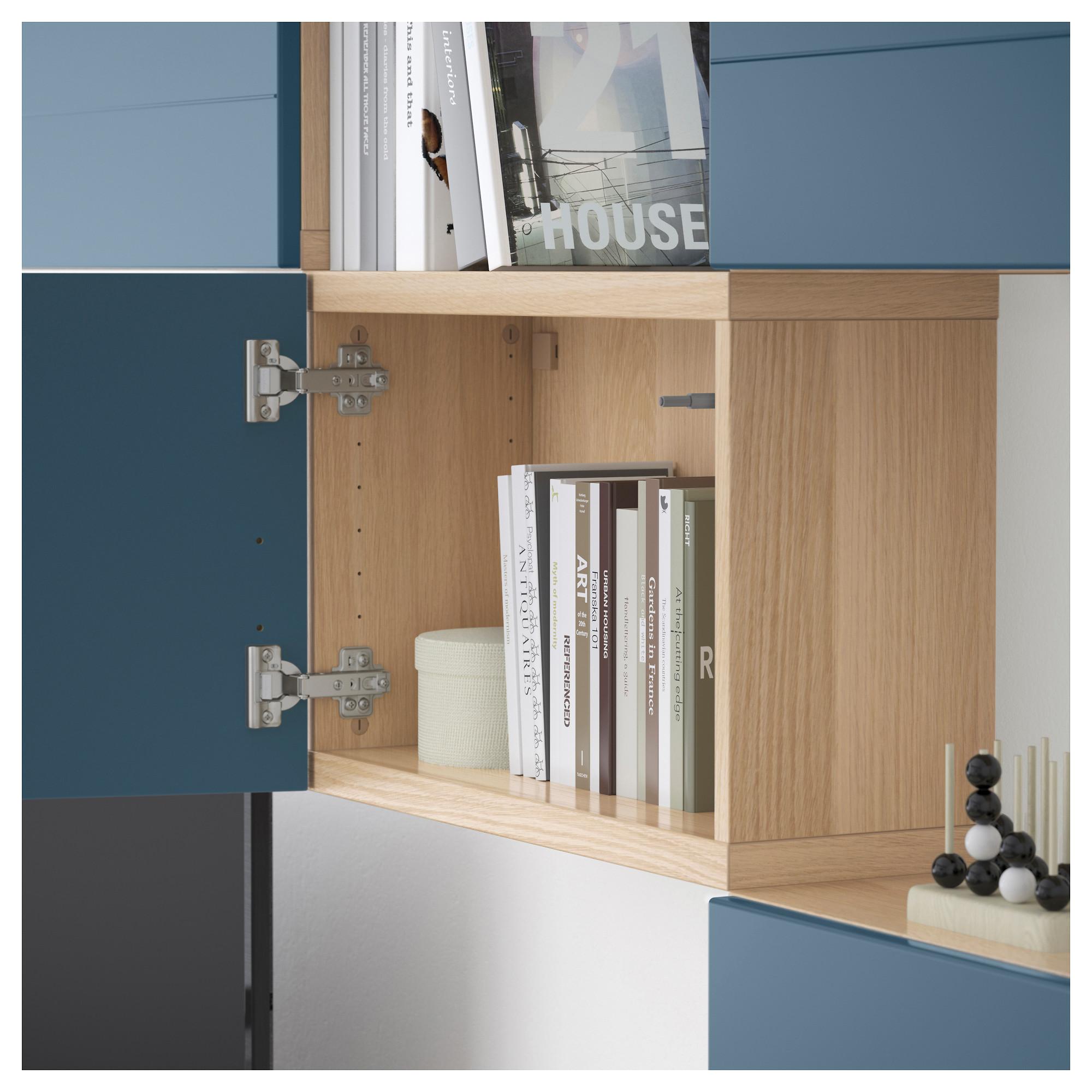 Шкаф для ТВ, комбинация БЕСТО темно-синий артикуль № 592.761.29 в наличии. Онлайн каталог IKEA Беларусь. Быстрая доставка и установка.