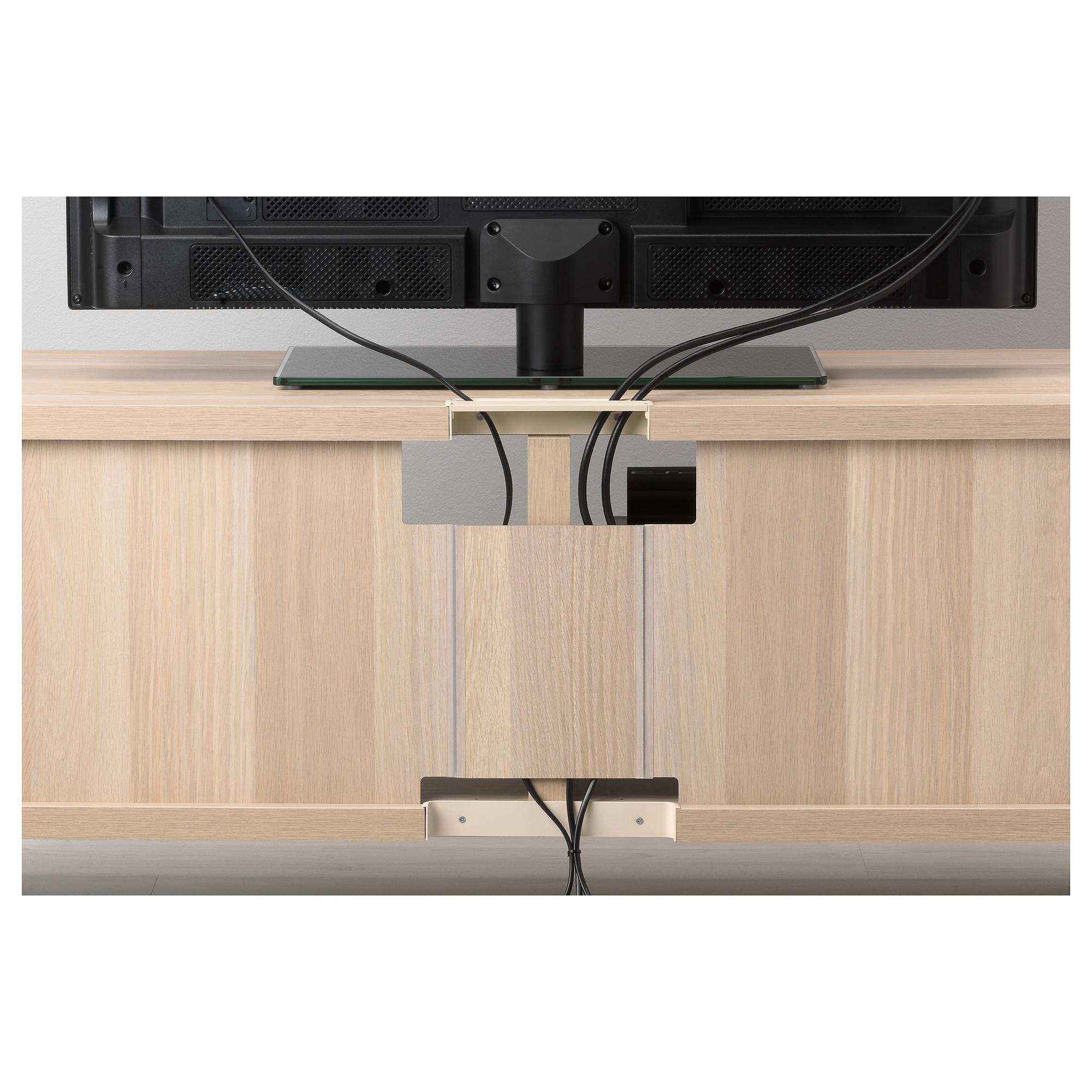 Шкаф для ТВ, комбинация БЕСТО черно-коричневый артикуль № 692.514.30 в наличии. Online сайт IKEA Минск. Быстрая доставка и установка.