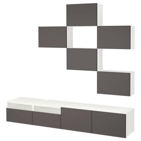 Шкаф для ТВ, комбинация БЕСТО темно-серый артикуль № 692.516.42 в наличии. Интернет магазин IKEA Беларусь. Недорогая доставка и установка.