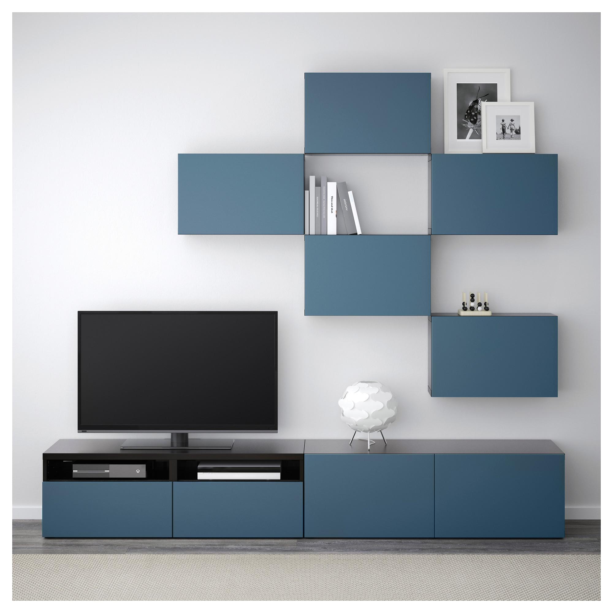 Шкаф для ТВ, комбинация БЕСТО темно-синий артикуль № 692.516.80 в наличии. Интернет сайт IKEA Республика Беларусь. Быстрая доставка и монтаж.