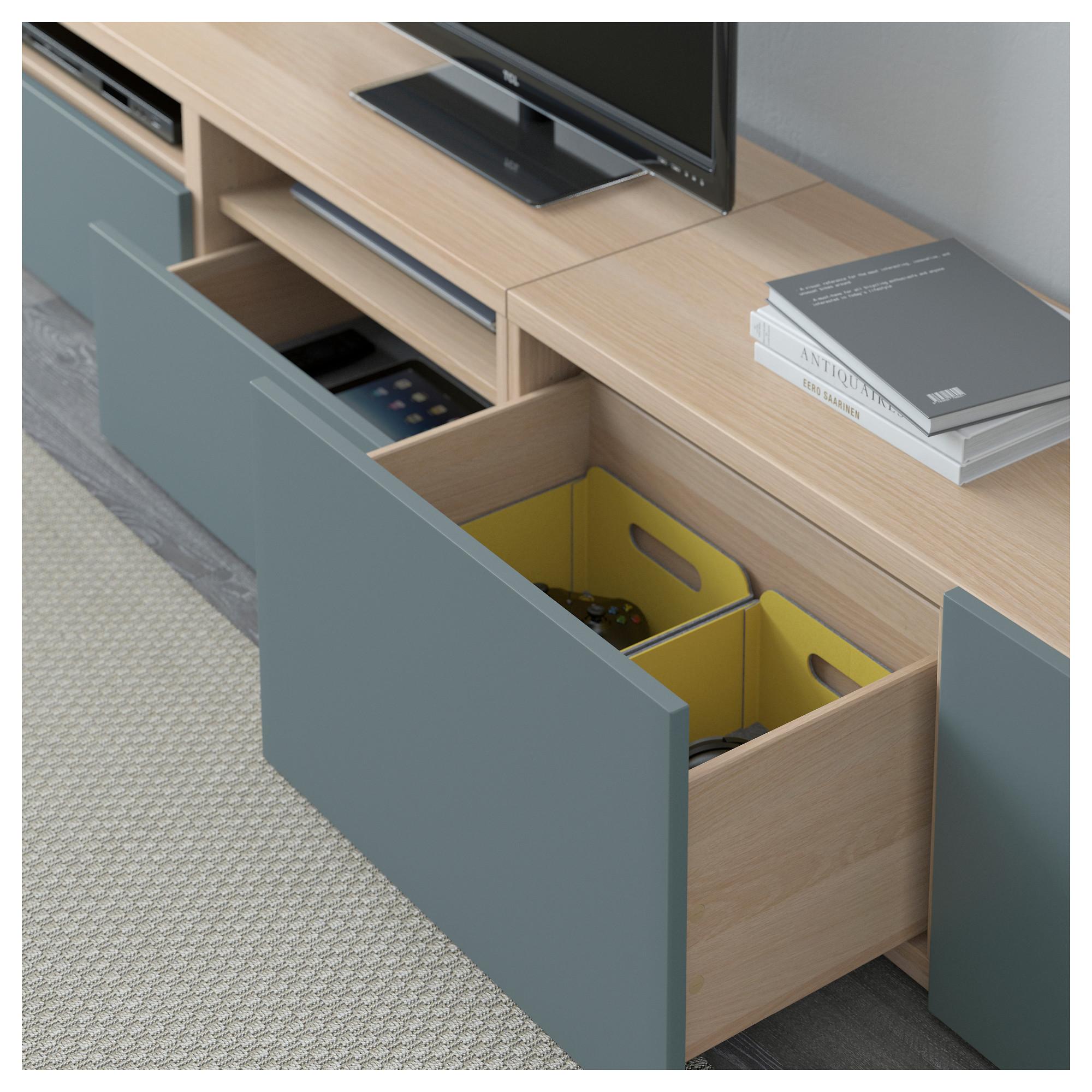 Шкаф для ТВ, комбинация БЕСТО артикуль № 792.516.70 в наличии. Онлайн магазин IKEA Минск. Недорогая доставка и установка.