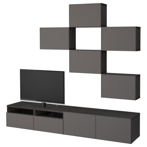 Шкаф для ТВ, комбинация БЕСТО темно-серый артикуль № 892.516.41 в наличии. Интернет сайт IKEA РБ. Быстрая доставка и установка.
