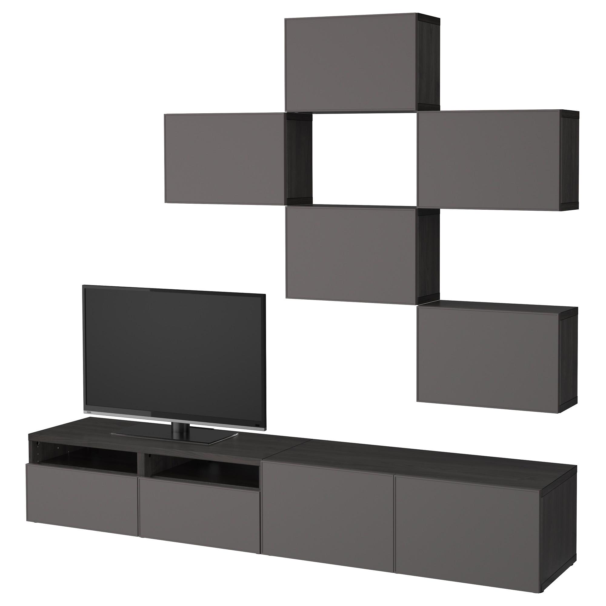 Шкаф для ТВ, комбинация БЕСТО темно-серый артикуль № 892.516.41 в наличии. Интернет магазин IKEA Республика Беларусь. Недорогая доставка и соборка.