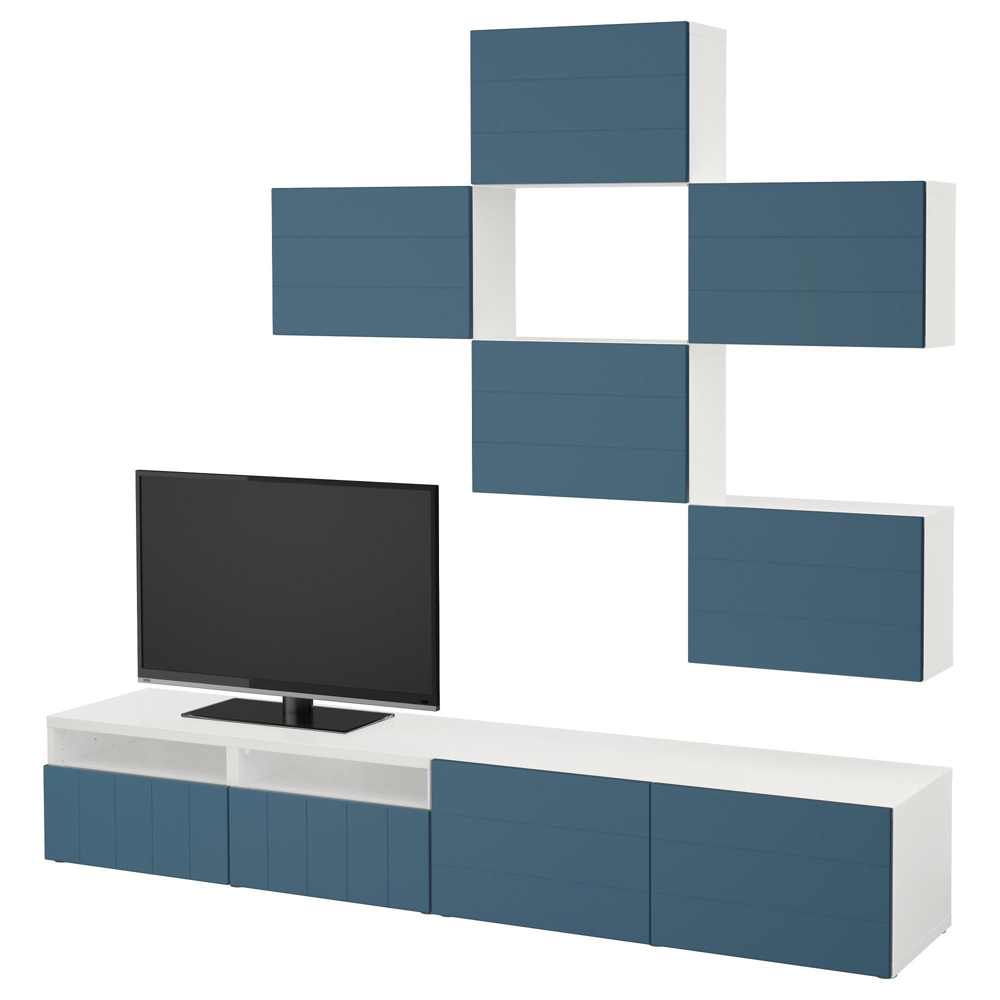 Шкаф для ТВ, комбинация БЕСТО темно-синий артикуль № 892.761.23 в наличии. Онлайн сайт IKEA Республика Беларусь. Недорогая доставка и установка.