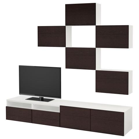 Шкаф для ТВ, комбинация БЕСТО белый артикуль № 992.514.24 в наличии. Интернет магазин IKEA Беларусь. Недорогая доставка и соборка.