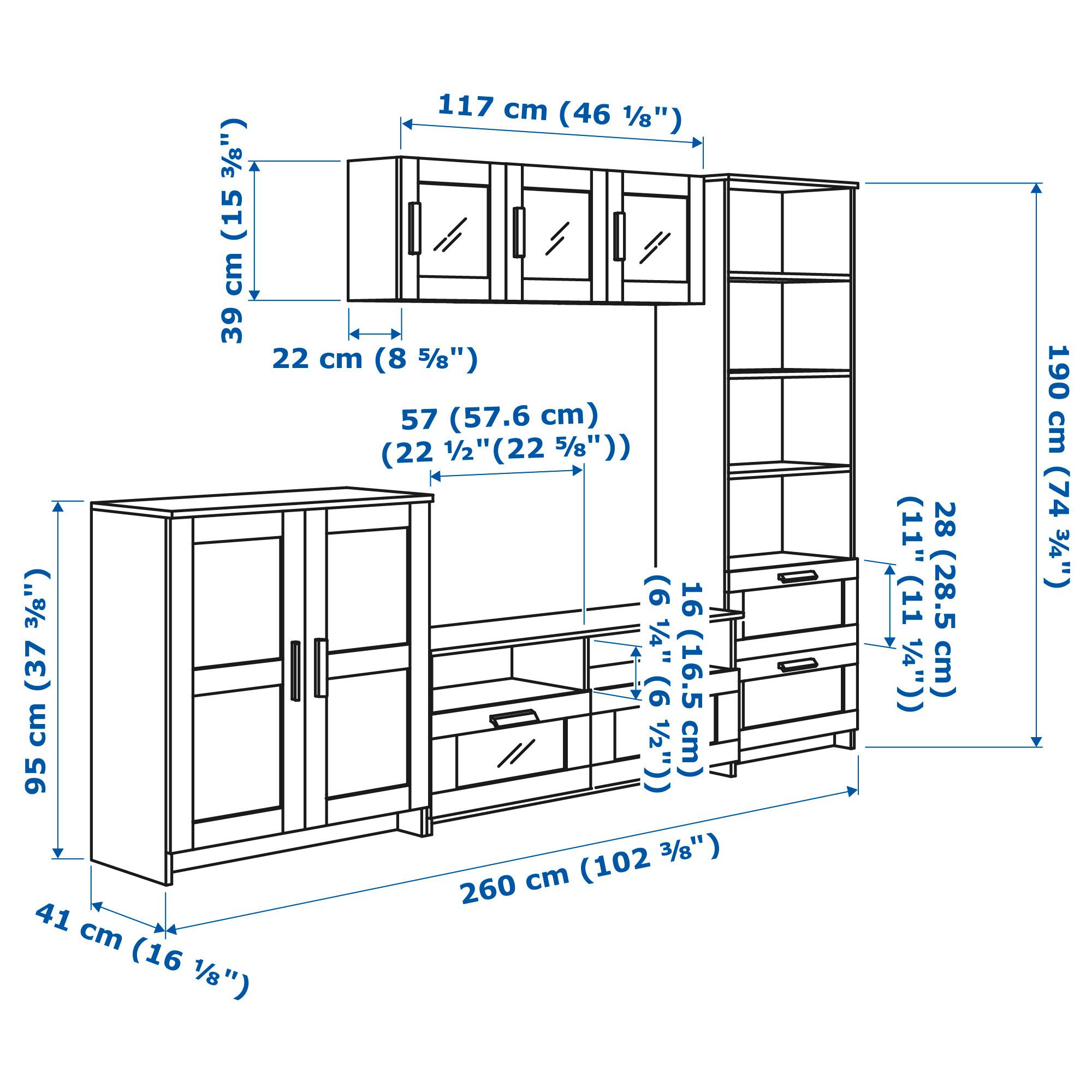 Шкаф для ТВ, комбинация БРИМНЭС черный артикуль № 592.397.64 в наличии. Интернет сайт IKEA Беларусь. Недорогая доставка и установка.