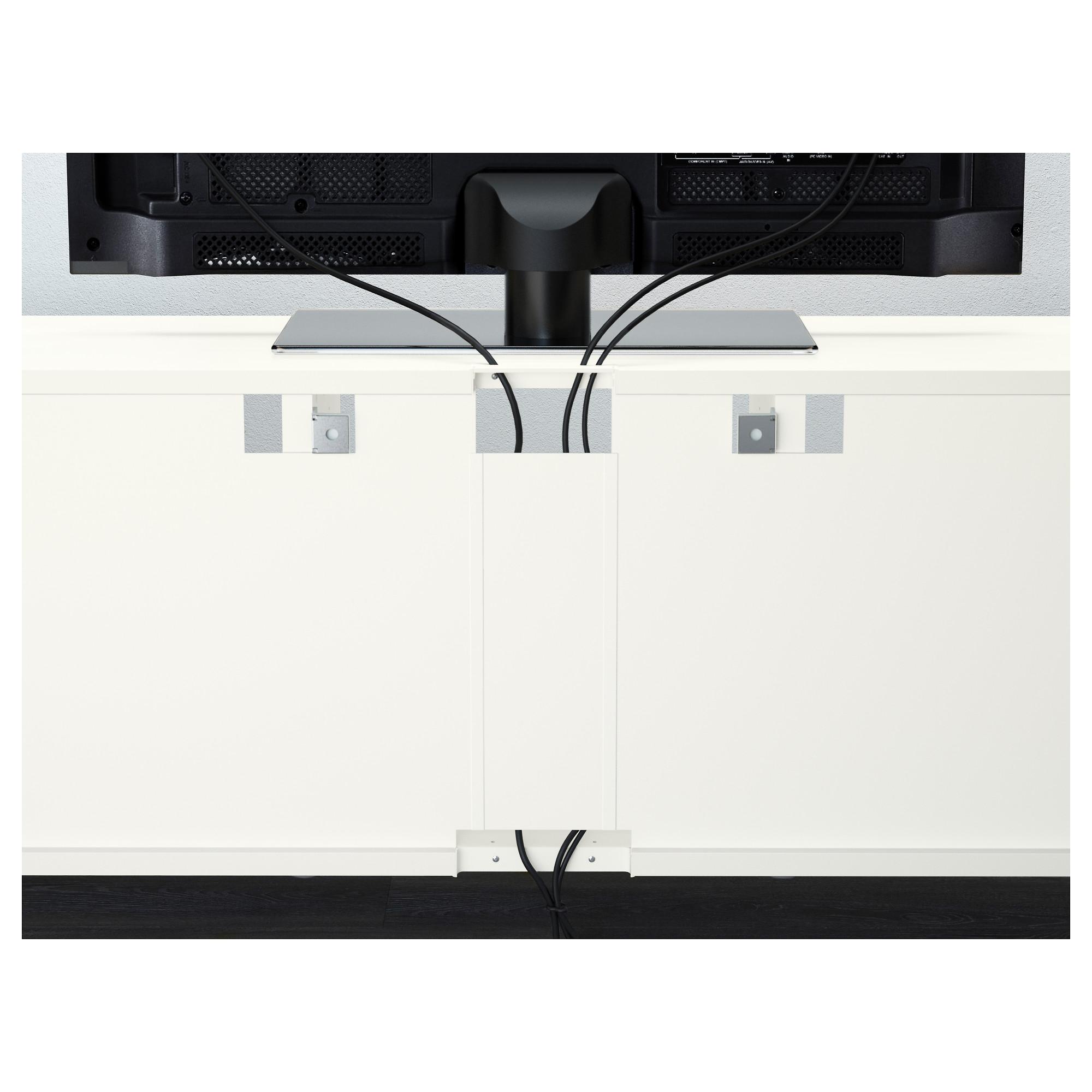 Шкаф для ТВ, комбинированный, стекляные дверцы БЕСТО белый артикуль № 092.501.41 в наличии. Интернет магазин IKEA РБ. Недорогая доставка и соборка.