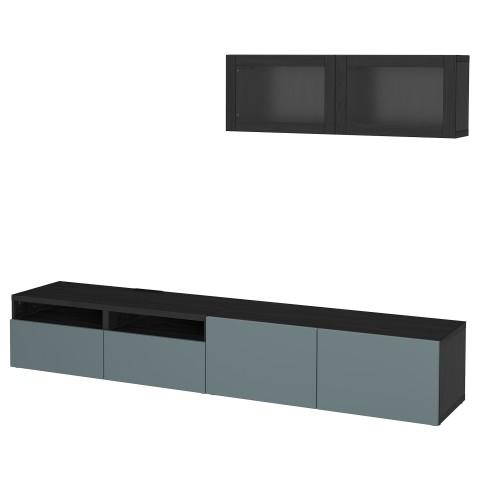 Шкаф для ТВ, комбинированный, стекляные дверцы БЕСТО артикуль № 092.509.33 в наличии. Интернет магазин IKEA РБ. Быстрая доставка и монтаж.