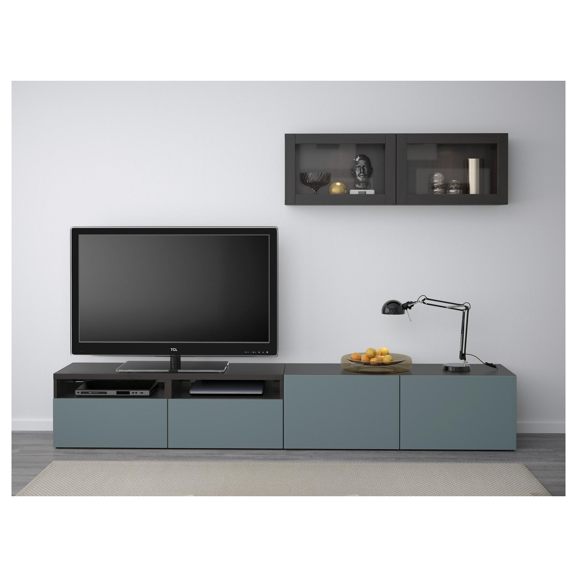 Шкаф для ТВ, комбинированный, стекляные дверцы БЕСТО артикуль № 092.509.33 в наличии. Онлайн магазин IKEA Беларусь. Быстрая доставка и установка.
