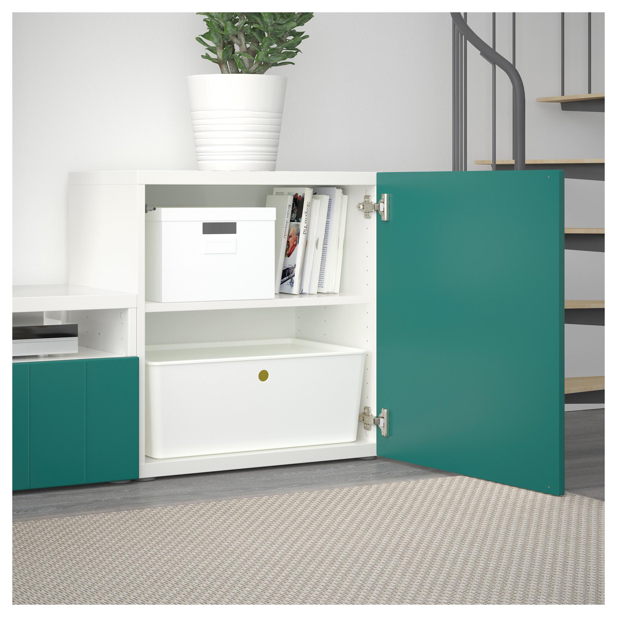 Шкаф для ТВ, комбинированный, стекляные дверцы БЕСТО артикуль № 092.761.36 в наличии. Интернет сайт IKEA Минск. Быстрая доставка и соборка.