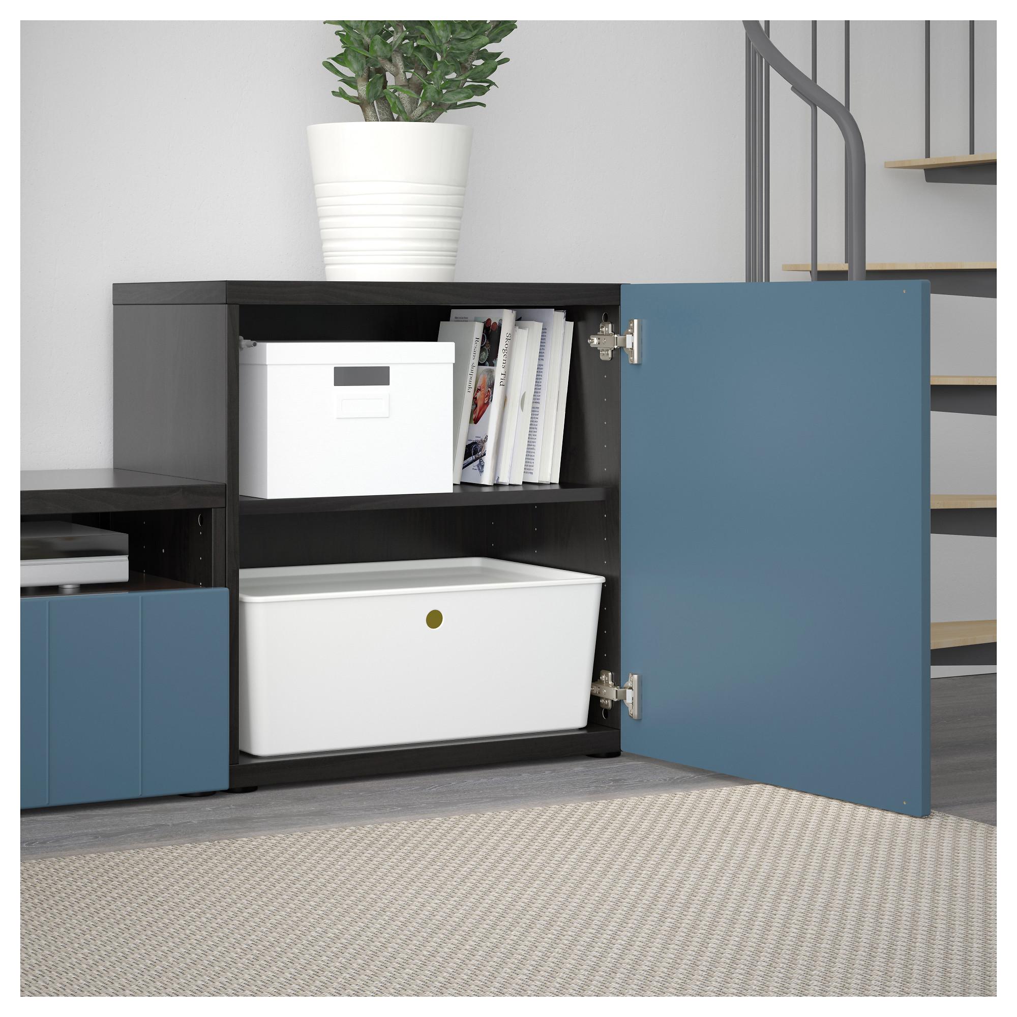 Шкаф для ТВ, комбинированный, стекляные дверцы БЕСТО темно-синий артикуль № 092.761.41 в наличии. Интернет сайт IKEA Республика Беларусь. Недорогая доставка и соборка.